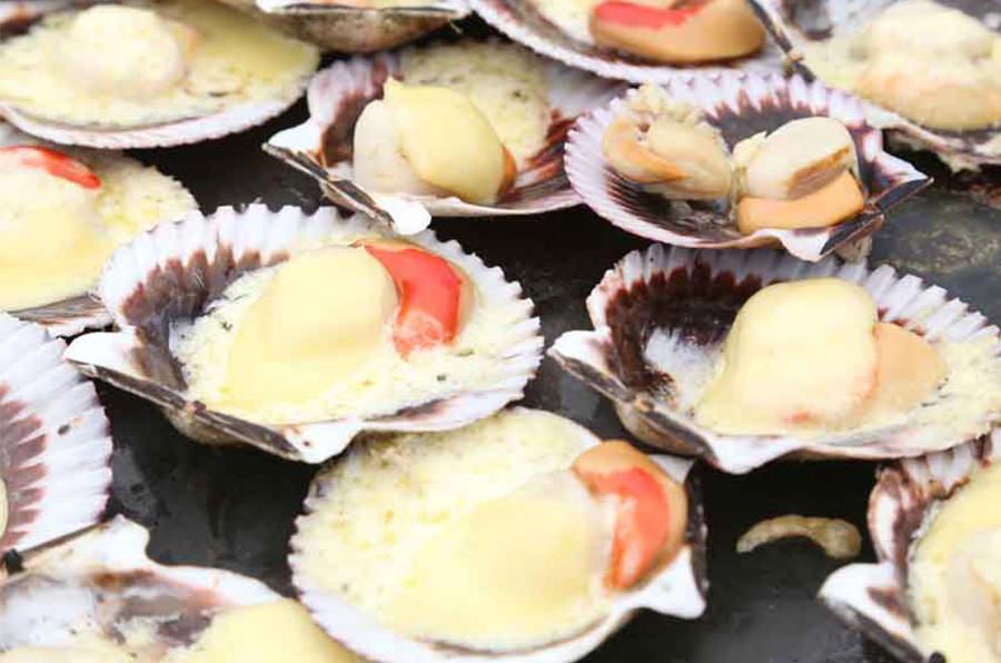 gastronomía en bahía del tangue